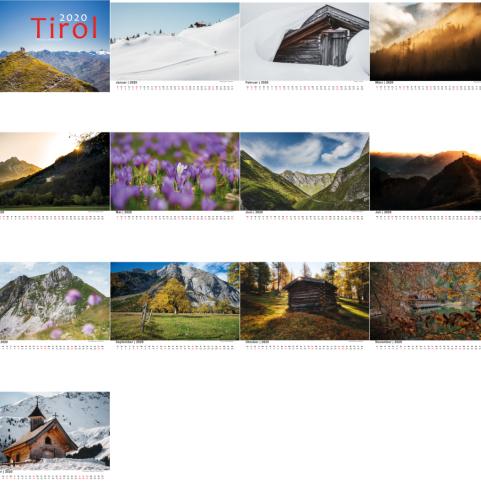 Kalender Tirol 2020