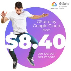 GSuite by Google Cloud from $8.40 per seat per month