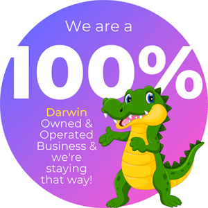 We are a 100% Darwin owned and operated business and we're staying that way!