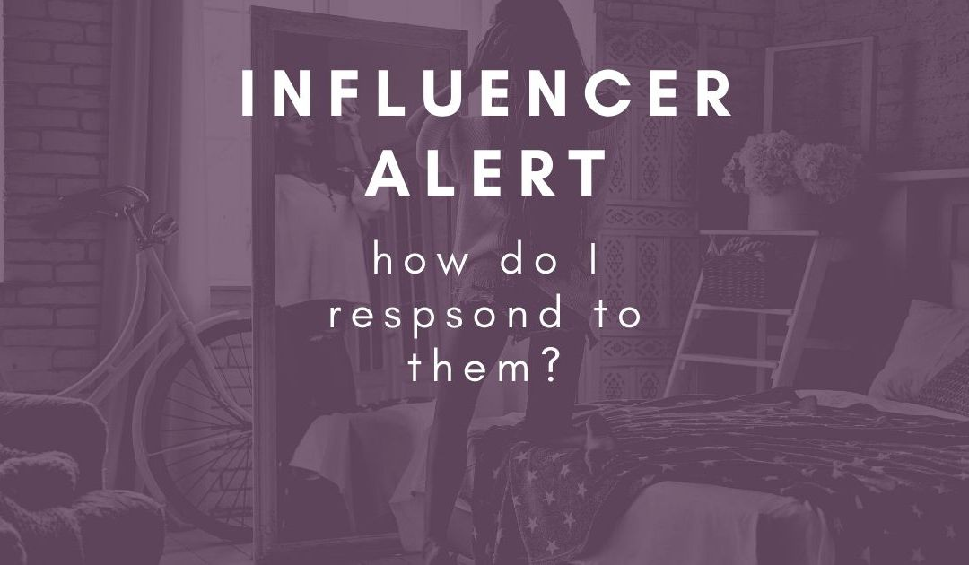How do I respond to influencer requests?