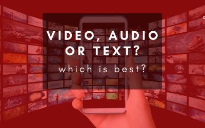 Should I podcast, make video, or write a blog?