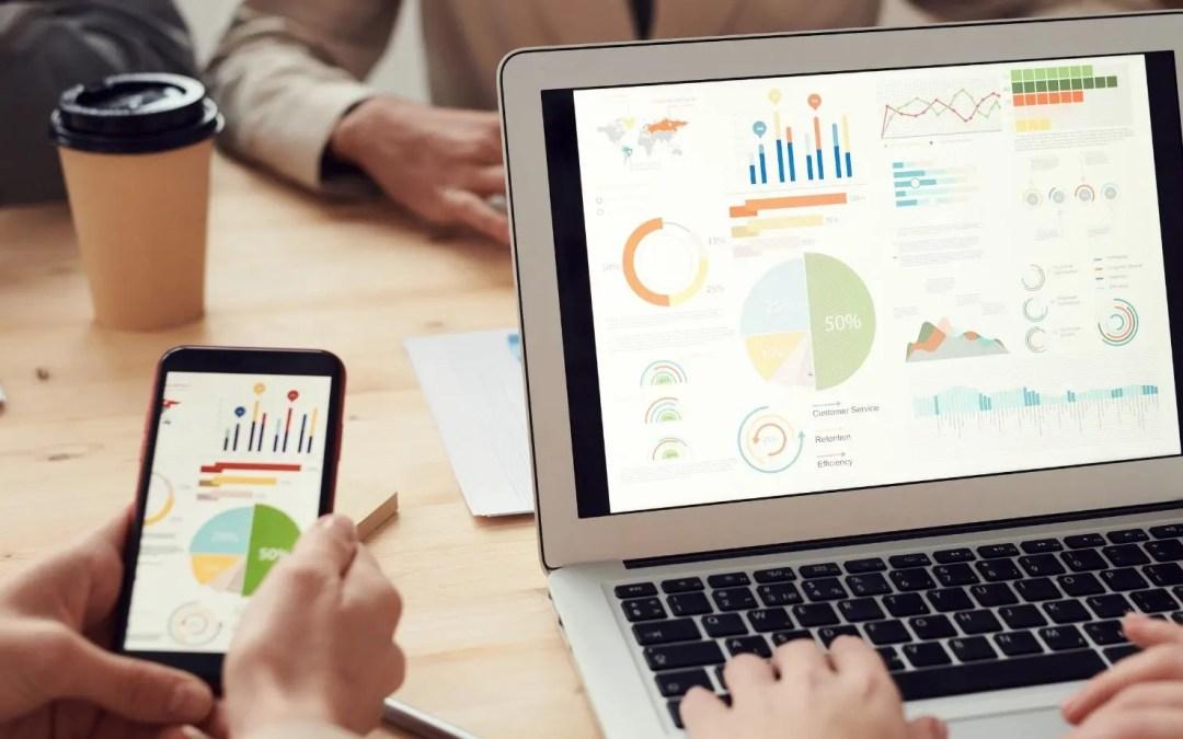 Photo of Google Analytics being used