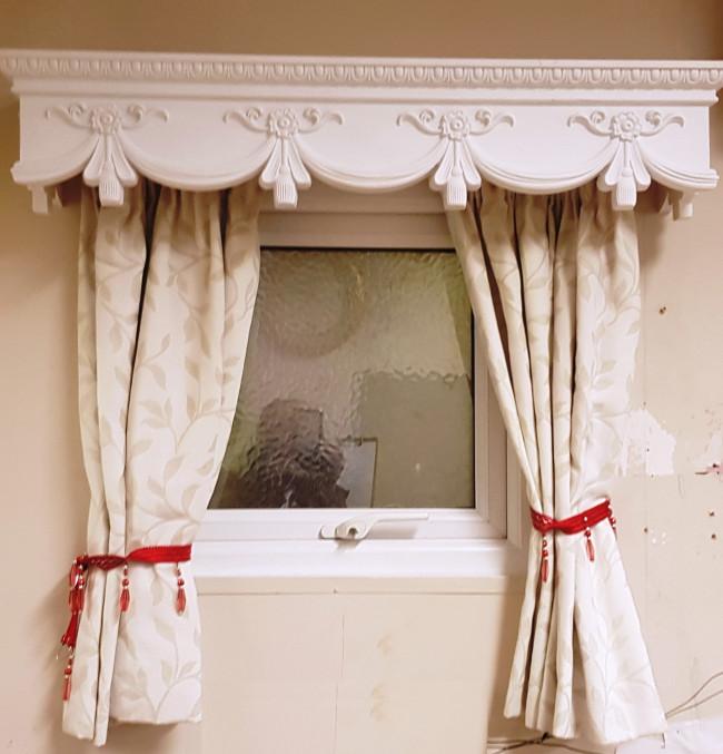 curtain box valance pelmet window door cornice cover victorian 5 feet 60 inches 1524cm x 18x18cm easy fit