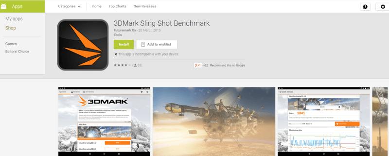 Download 3DMark Sling Shot Benchmark App