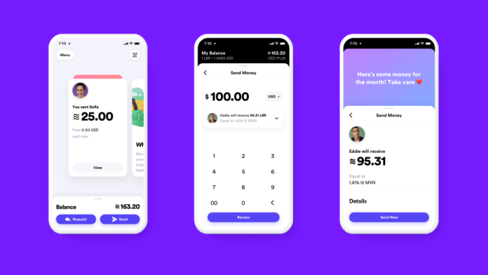 Facebook Libra screenshot showing how the payments will work