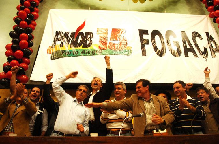 Foto da campanha de Fogaça e Fortunatti.