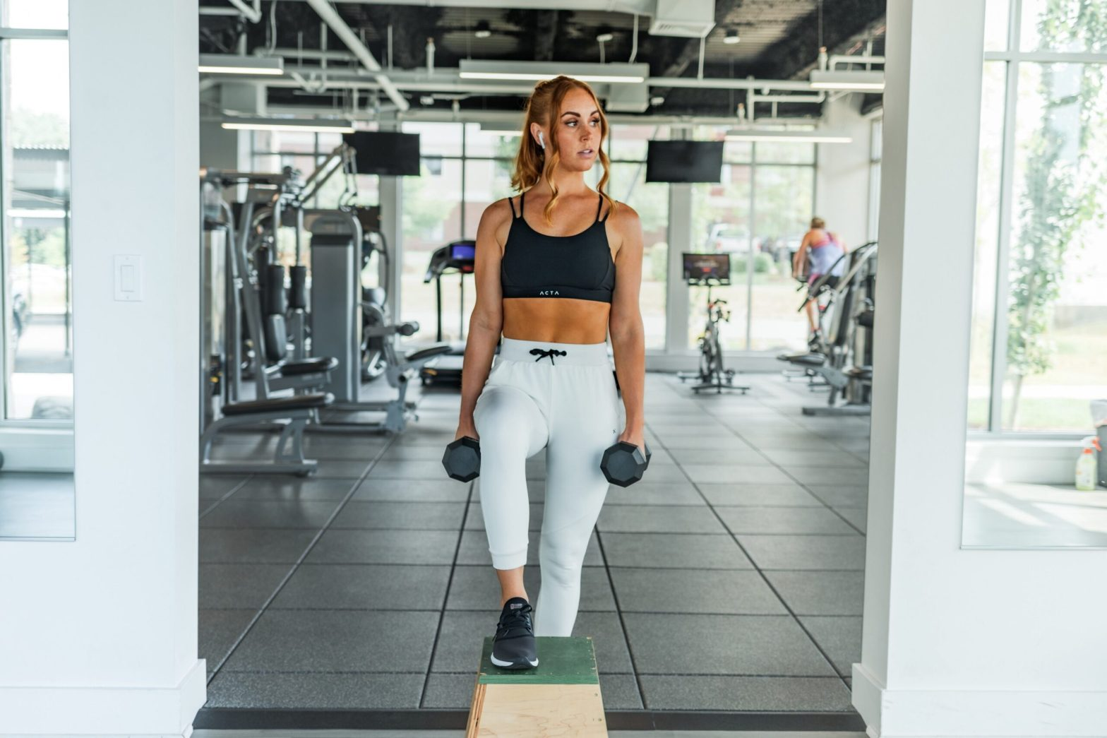 beginner person learn how to start her fitness journey