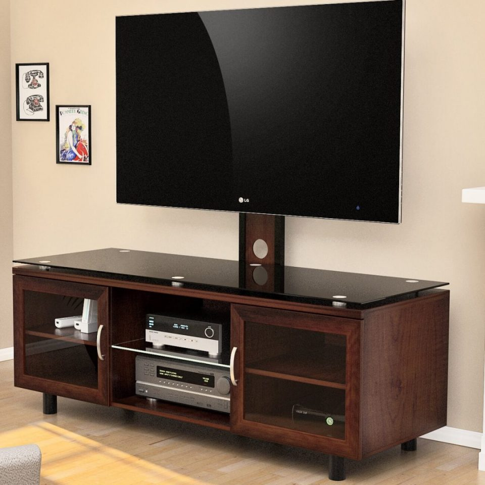 3 in 1 tv mount system brown