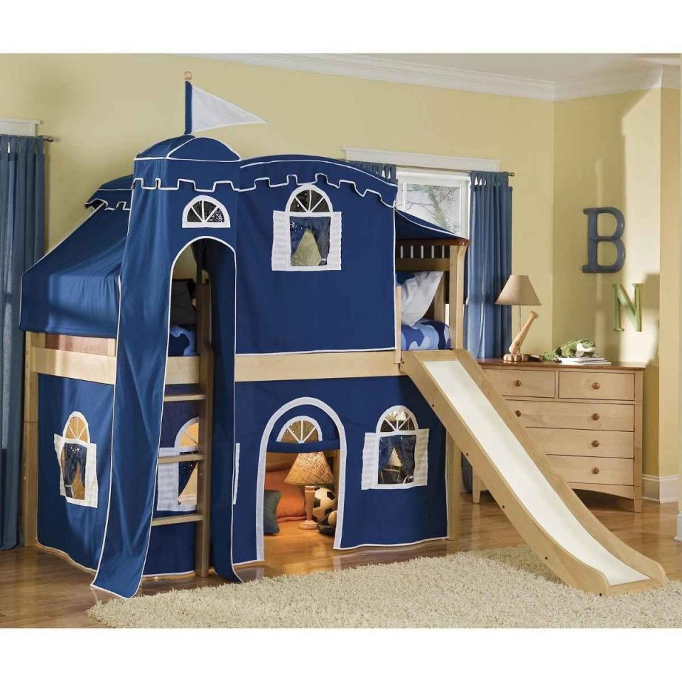 bunk bed tents for boys blue tent castle