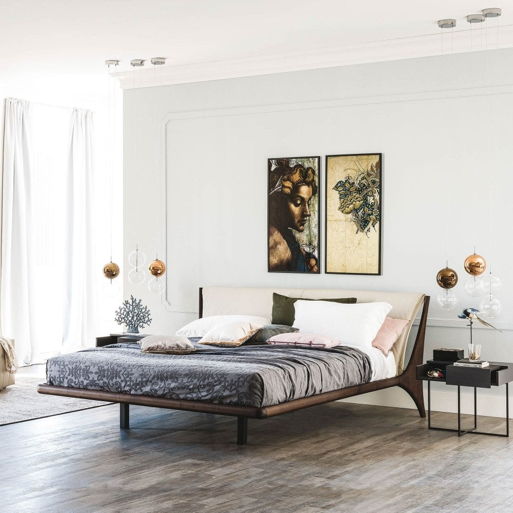 cattelan italia nelson faux leather bed