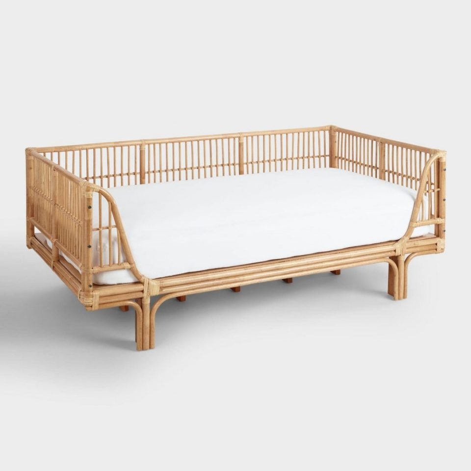 Honey Rattan Daybed Natural