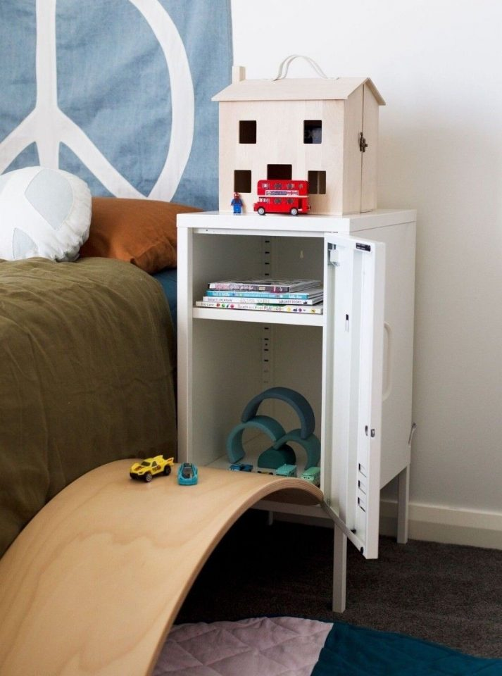 kids bedside bedroom storage