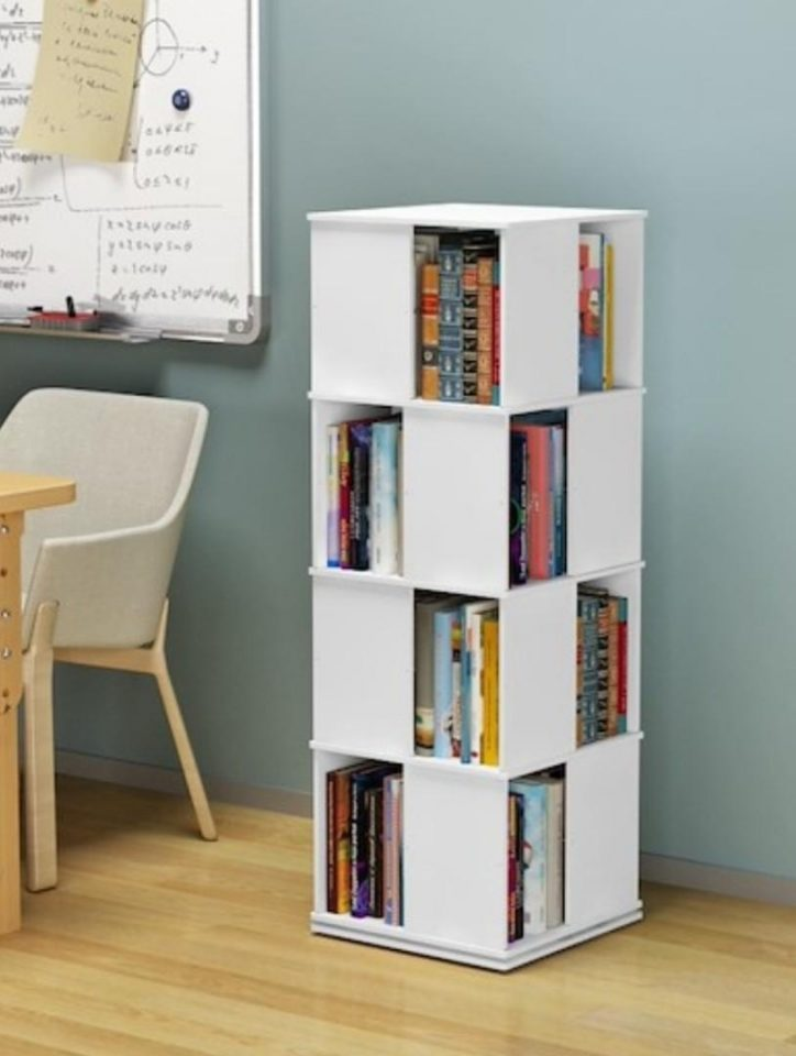 Rotatable Bookshelf Multi Layer Space Saving