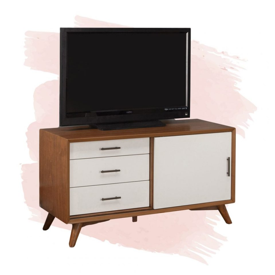 small tv stand white