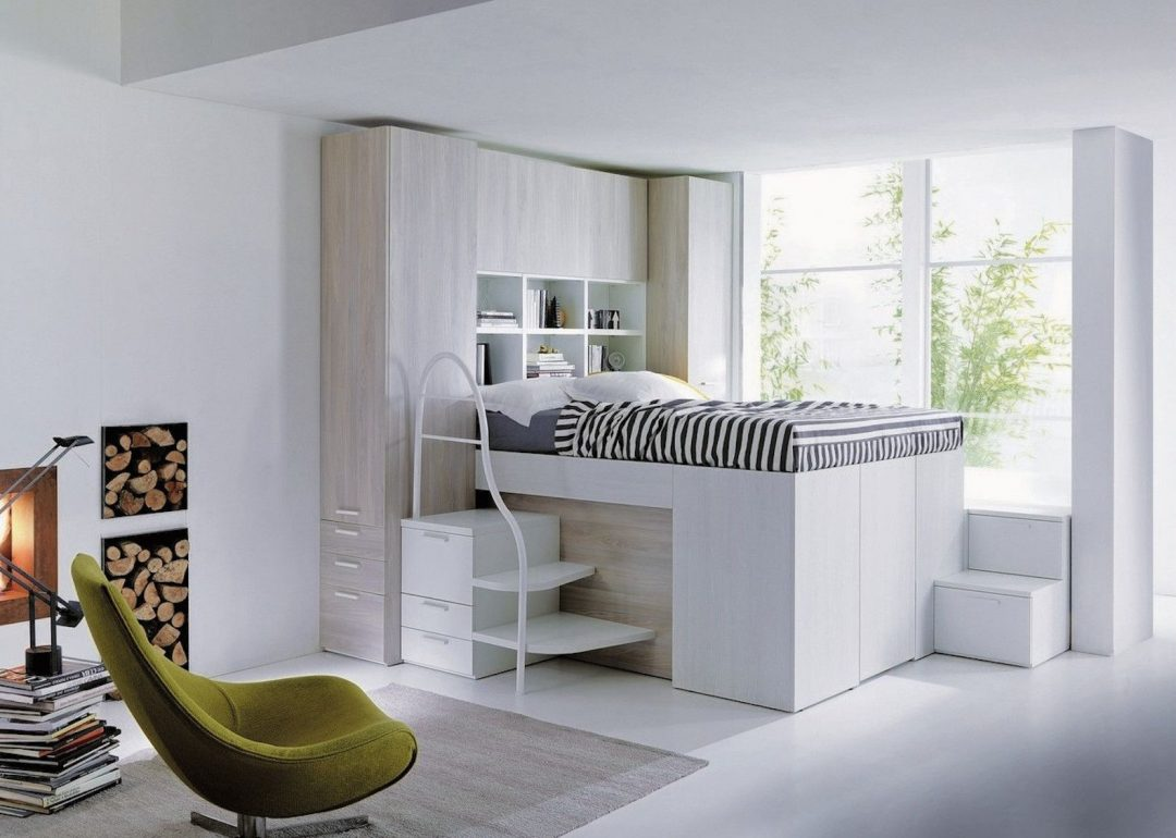 space saving bed hides a walk in closet underneath
