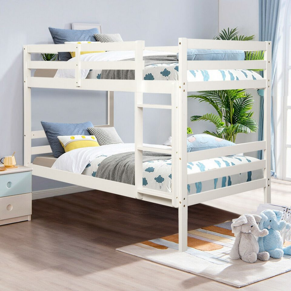 twin bunk bed children solid hardwood