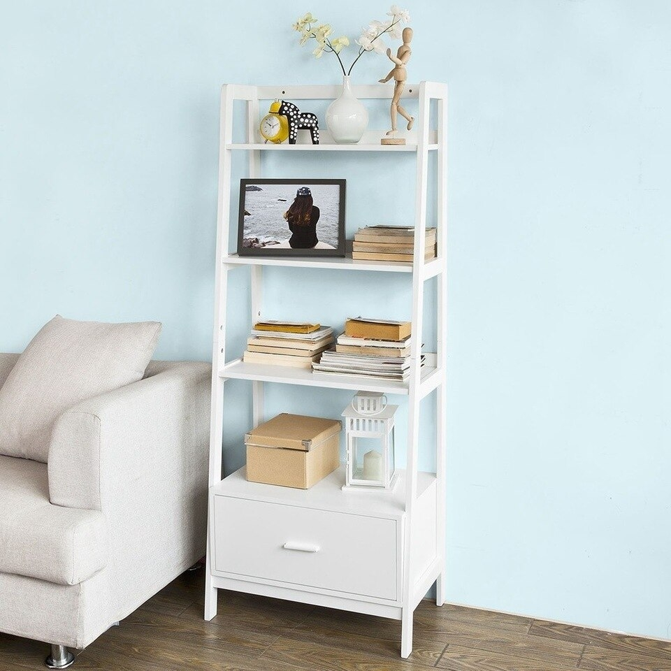 White Storage Display Shelving Ladder