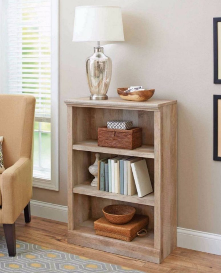 Wooden Small Bookshelf Ideal Vertical