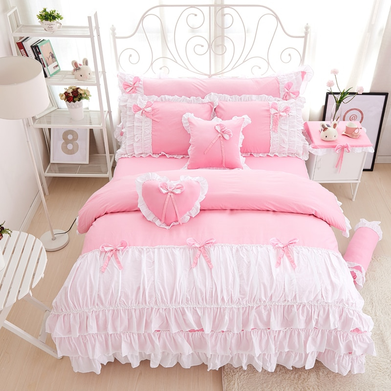 100 cotton pink purple king queen twin single double size