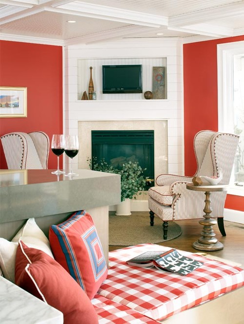 11 red decorating ideas for every room town country living