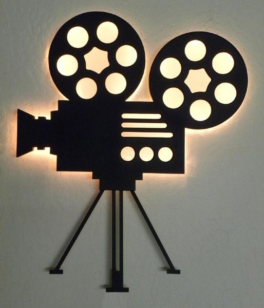 authentic film reel movie camera wall decor home theater