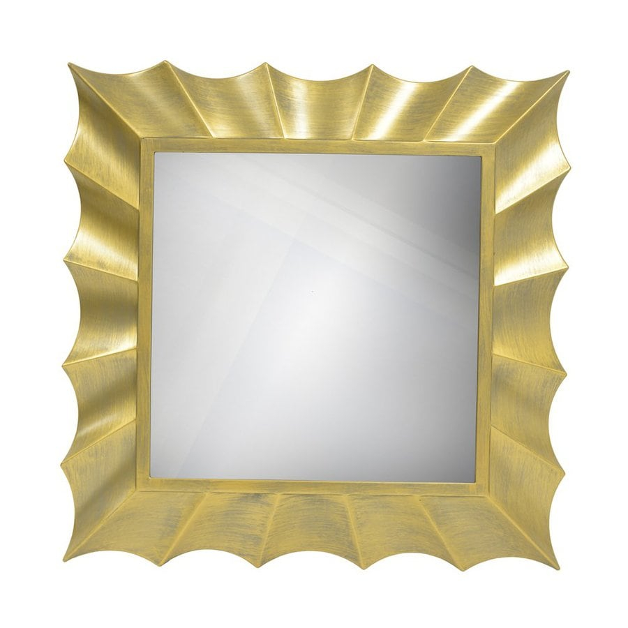 decor therapy gold beveled square wall mirror at lowes