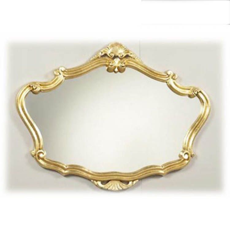 decorative gold over mantle wall mirror 91 x 71 cm