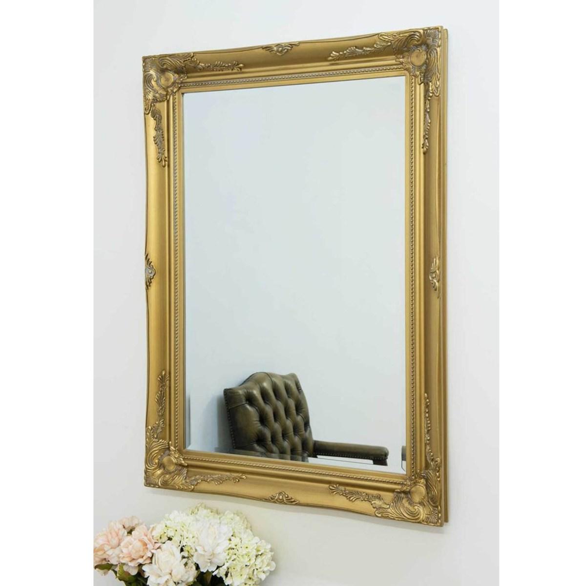 gold decorative antique french style wall mirror