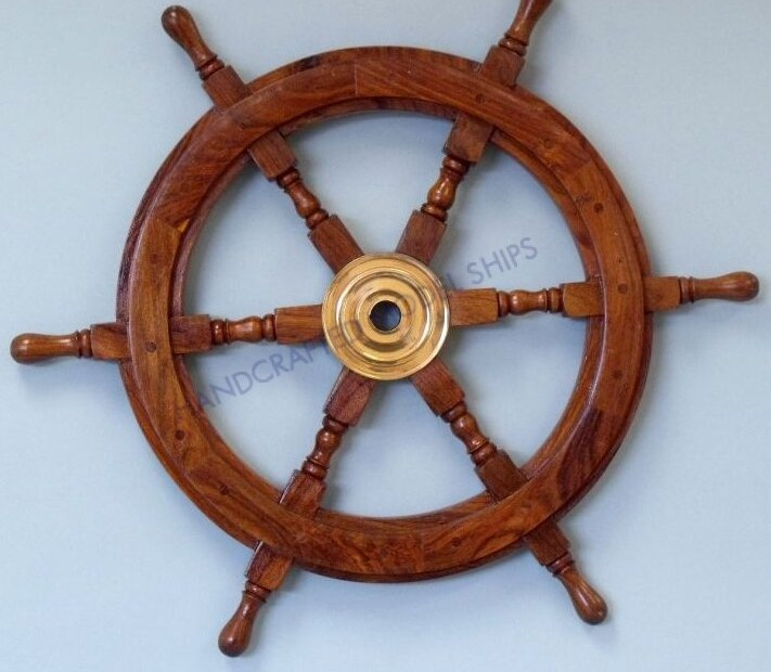handcrafted model ships deluxe class ship wheel wall dcor