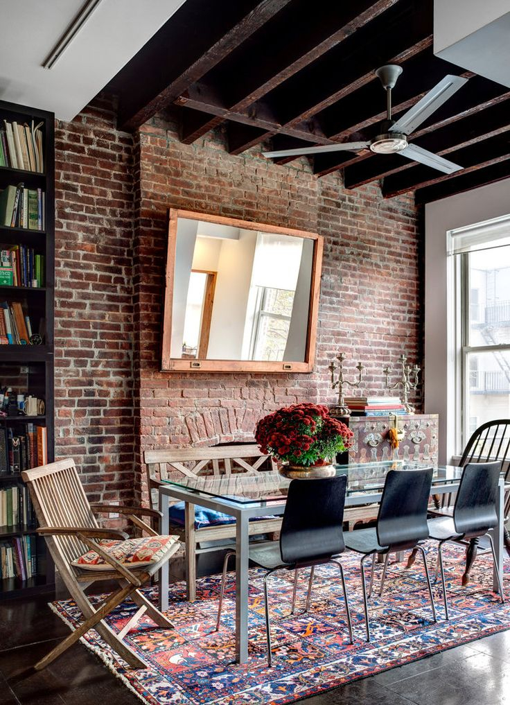 idea red brick walls in the living room