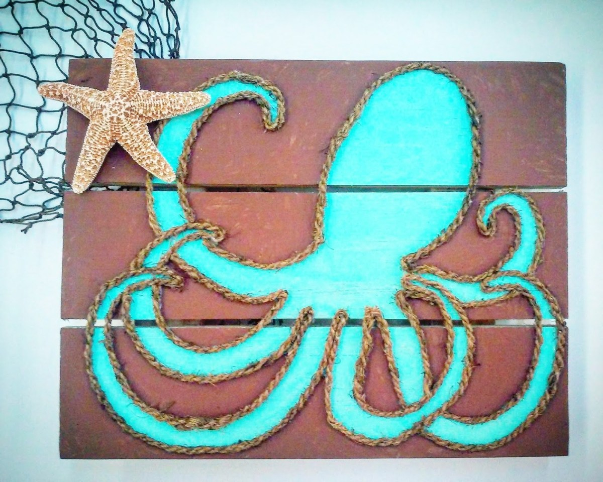 ideas and inspirations rope octopus wall art