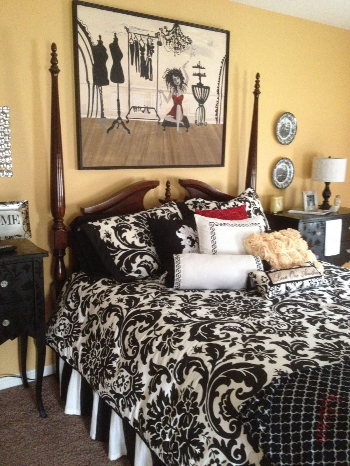 love the colors pretty bedroom black and white bedding
