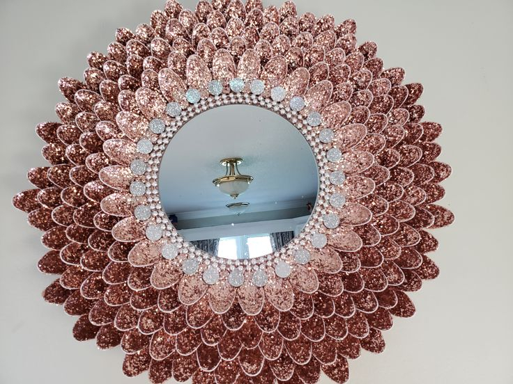 mirror wall decor rose gold gold christmas decorations