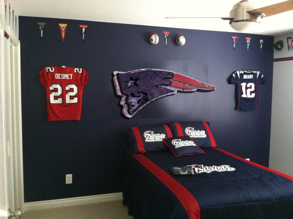 new england patriots reclaimed barn wood sign vintage