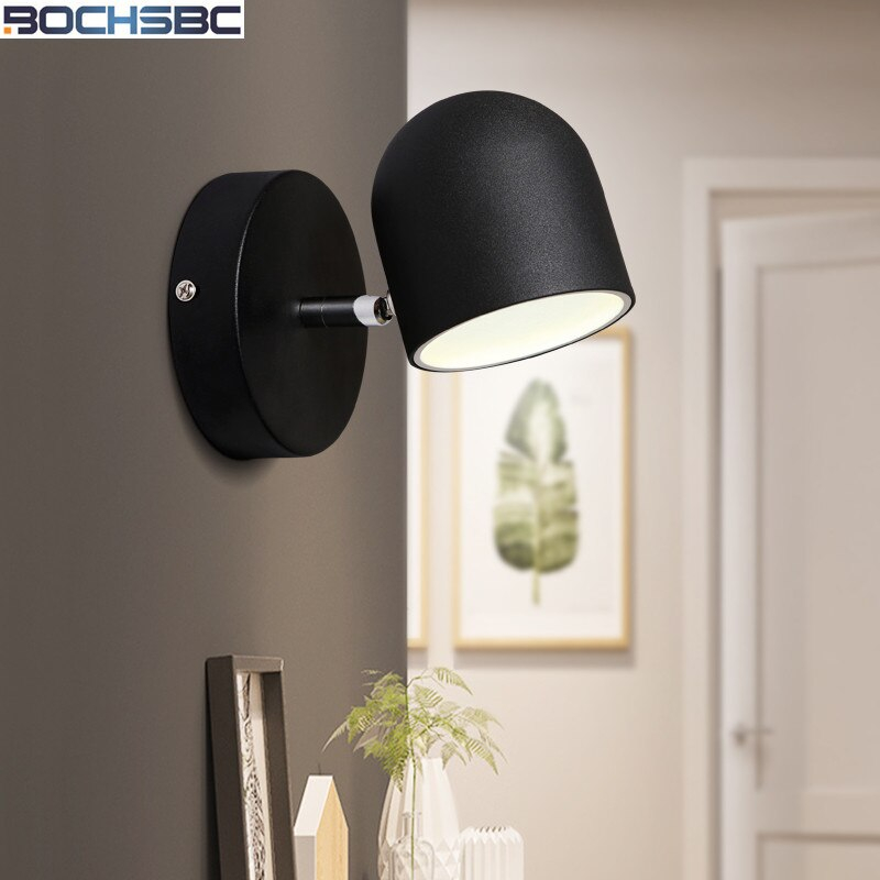 nordic bedroom bedside wall lamp mirror light stairs aisle