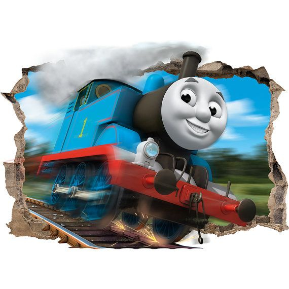 on sale thomas the tank engine 3d wall sticker smashed