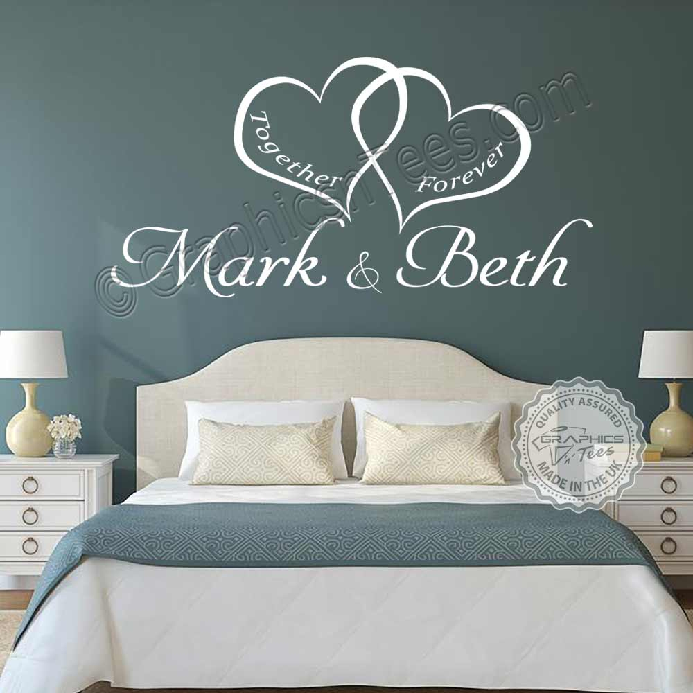 personalised bedroom wall sticker together forever