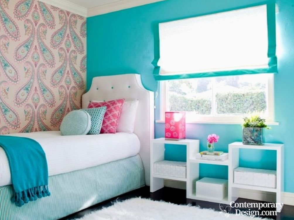 wall colour combination for small bedroom contemporary