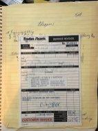 Radio Shack Tandy TRS-80 Model 100 Repair Invoice