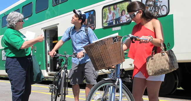 Go train to Niagara bike trails