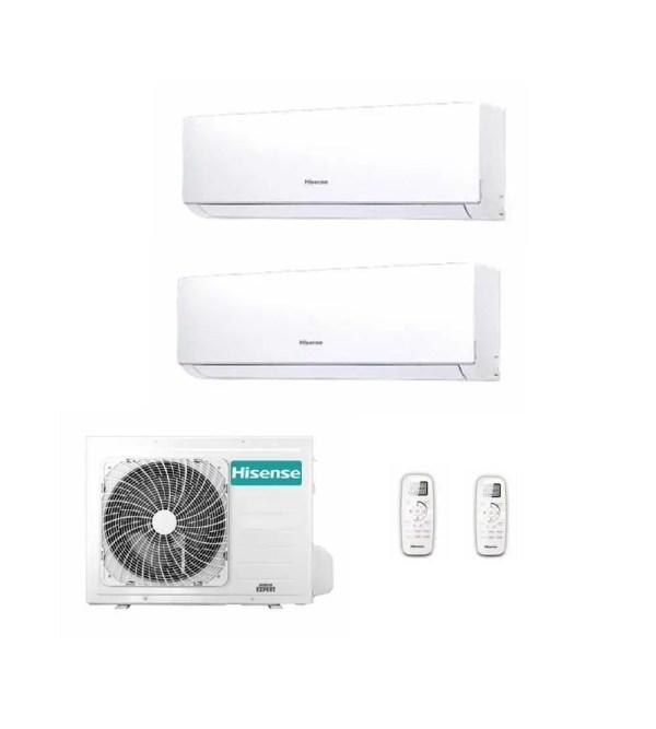 Climatizzatore Condizionatore Hisense Serie Worldwide Q New Comfort Dualsplit Parete 9000 btu 2AMW42U4RRA + DJ25VE0AG+DJ25VE0AG 2