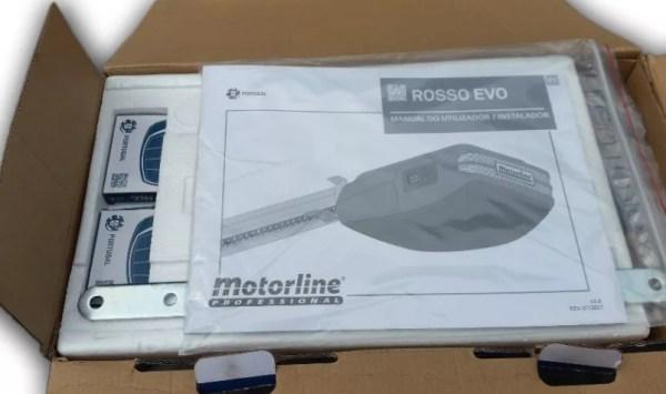 Motorline Rosso Evo 120 kit puerta seccional caña 4 metros