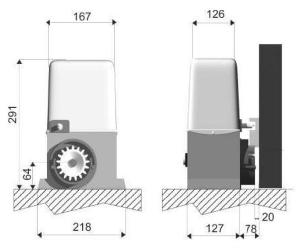 Kit Artemis 800 motor puerta corredera con 3 metros cremallera nylon