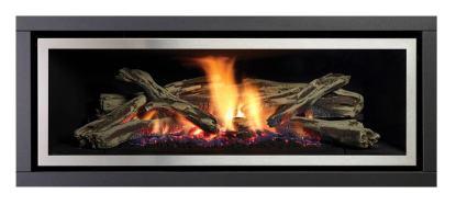 Flat Black w- Stainless Steel Inner Frame