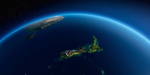 Image of Earth Showing New Zealand
