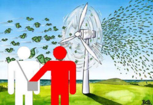 Groene kleptocratie productie per megawatt vermogen investering voor 1 mw kosten van het klimaatbeleid waarde van de geproduceerde