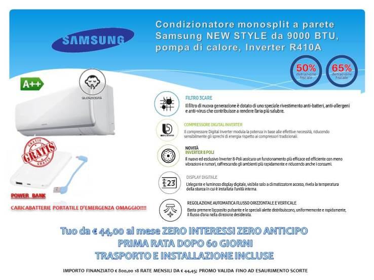 Condizionatore monosplit a parete Samsung  New Style