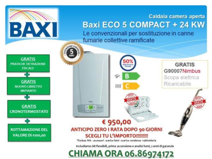 CALDAIA CAMERA APERTA BAXI ECO5 COMPACT + 24 KW