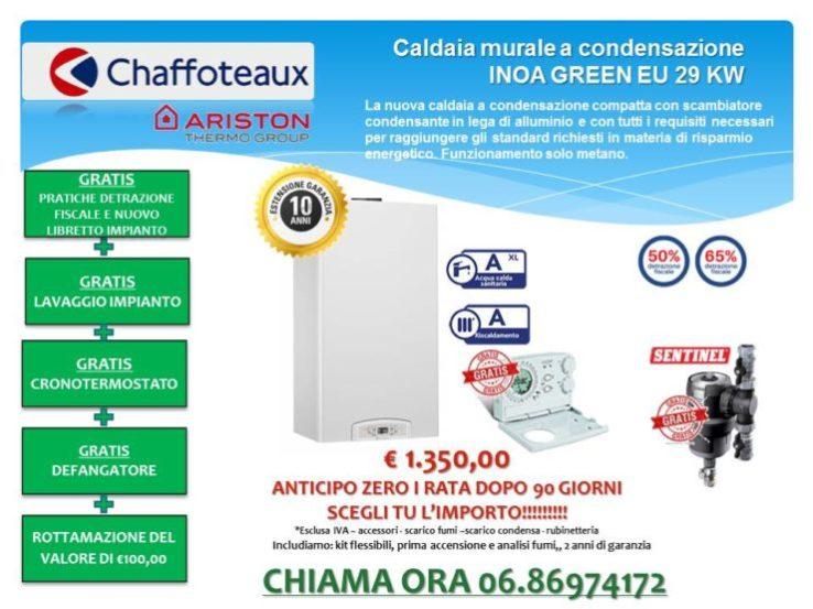 Caldaia murale a condensazione CHAFFOTEAUX INOA GREEN EU 29 KW