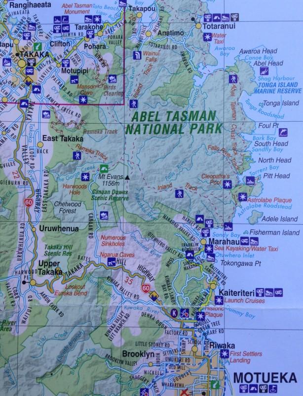 Takaka Hill Map
